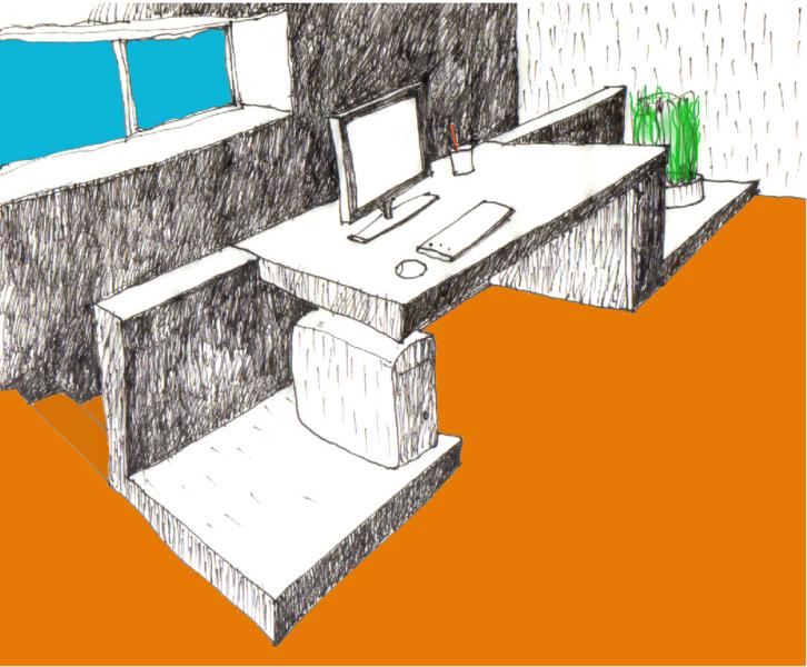 Stůl/zábradlí